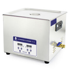 Cina 15L Heater Adjustable Benchtop Ultrasonic Cleaner, Paint Air sikat Ultrasonic Cleaner Bath pemasok