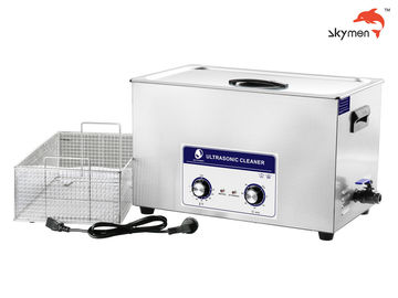 Cina 30L Bench Top Mechanical Ultrasonic Cleaner 600W Untuk Blok Mesin Auto Parts JP-100 pemasok
