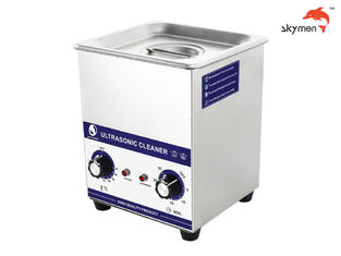 60W Benchtop Ultrasonic Cleaner , Heated Ultrasonic Cleaner For Cosmetic Brush