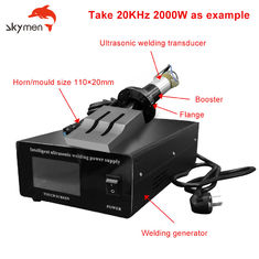 20KHz 2000W Ultrasonic Welding Machine with ultrasonic Transducer and steel ultrasonic horn