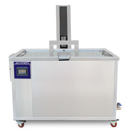 Cina Custom Made Ultrasonic Parts Cleaner 540L / 140Gal Pneumatic Lift CE Sertifikasi Distributor
