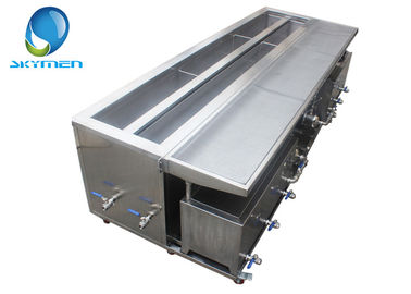 Cina 2400mm Customized Blind Ultrasonic Cleaner Dengan Rinsing Tank Drying Tray pabrik